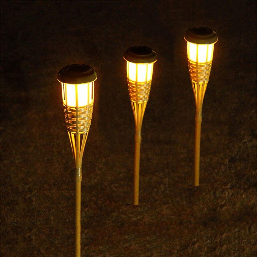 Solar Bamboo Torch Lights Landscape