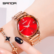 Sanda Fashion Luxury Women Quartz Watch Gradient Diamond Wristwatches Casual Clock ladies watches reloj mujer relogio feminino
