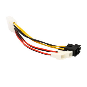 Image 3 - IDE Molex 4 pin to Case cooling Fan 3 pin TX3 Multi Fan Out  Power Adapter Converter Cable w/ Speed Reduction ,2x5V/2x12V