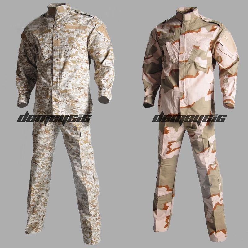 Military Combat Uniform Outdoor Tactical Army Uniform Set Shirt Pants Uniform Hunting Clothing Sniper Camouflage Suit