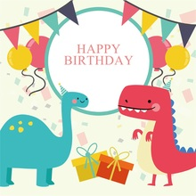 Laeacco Birthday Party Cartoon Portrait Baby Children Photography Backdrops Customized Backgrounds For Photo Studio