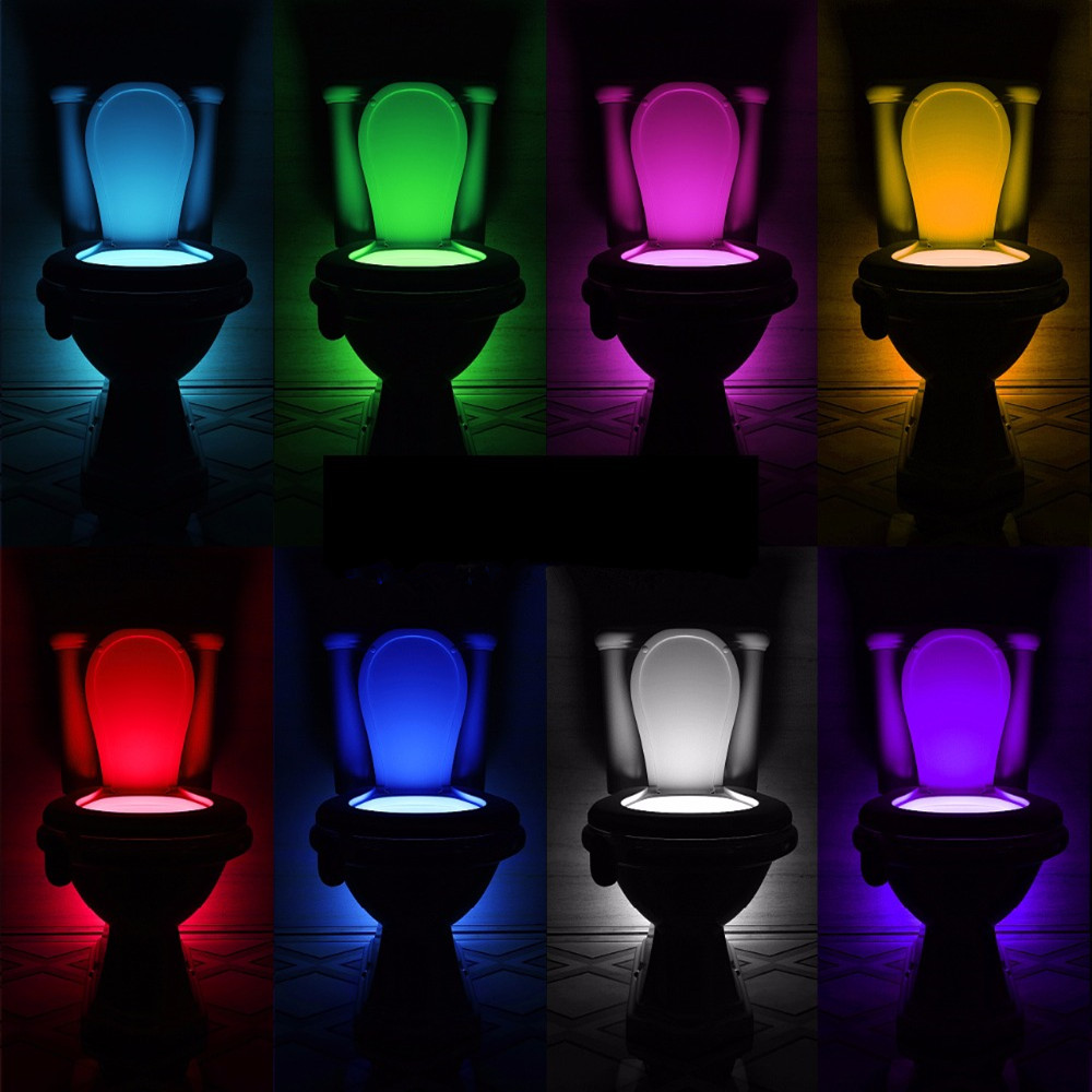 Night Light Sensor Toilet Lamp 8 Colors Backlight Toilet Bowl LED Luminaria Lamp Nightlight PIR Smart Night Light Lamp For Child