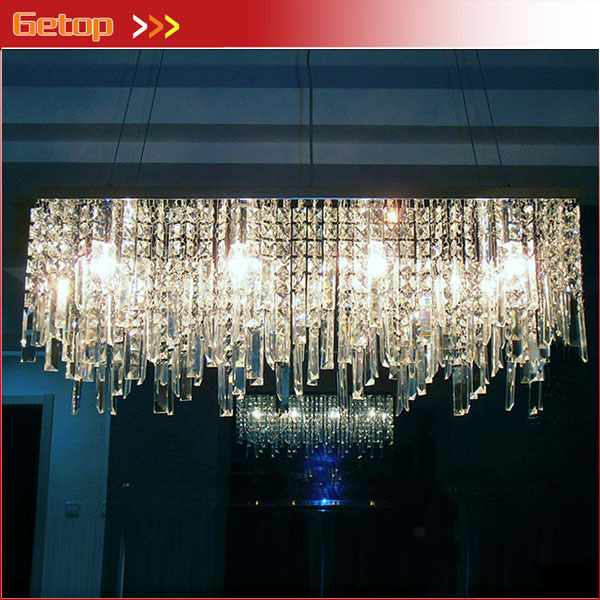 Best Price Rectangular Crystal Chandeliers K9 Crystal Ceiling Lamp Lighting Fixtures Restaurant LED Lighting E14 Free Shipping удилище фидерное mikado ultraviolet heavy feeder 360 до 120гр карбон mx 9