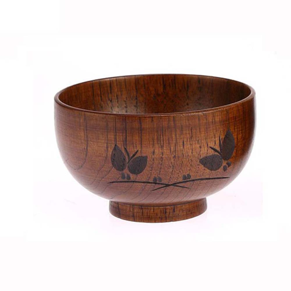 Jujube wooden bowl handwork butterfly carved pattern for