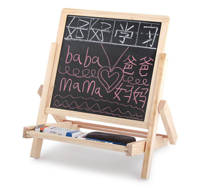 Us 29 9 35 Off Kids Painting Set Adjustable Double Side Wooden Art Easel Magnetic Drawing Writing Board Toddler Children Learning Toys In Drawing