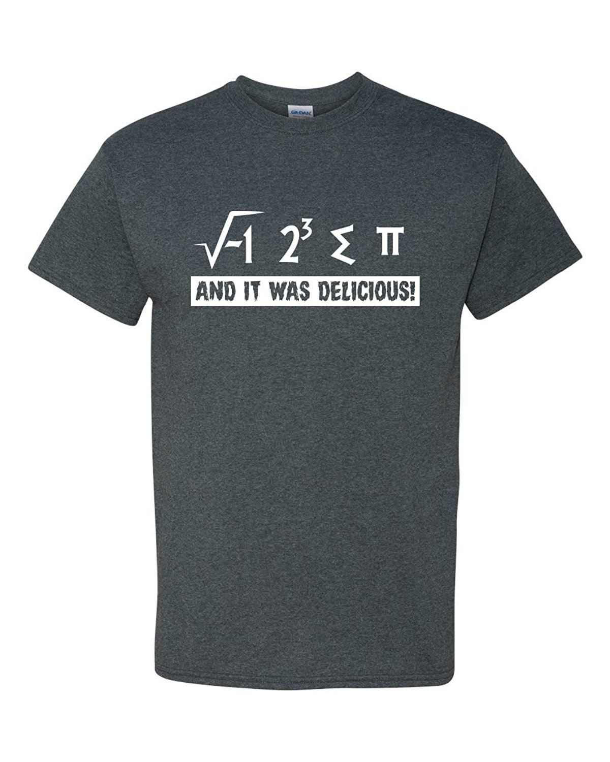 I Ate Some Pie And It Was Delicious Pi Funny Math 3.14 Adult Mens Graphic Tee Humor Pun T-Shirt Heather Grey