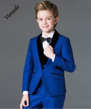 New Boys Suits 3 Piece Royal Blue Suit Boys Wedding Tuxedo Page Boy Formal Party boys blue suits boys suits page boy prom wedding party outfit 3 piece