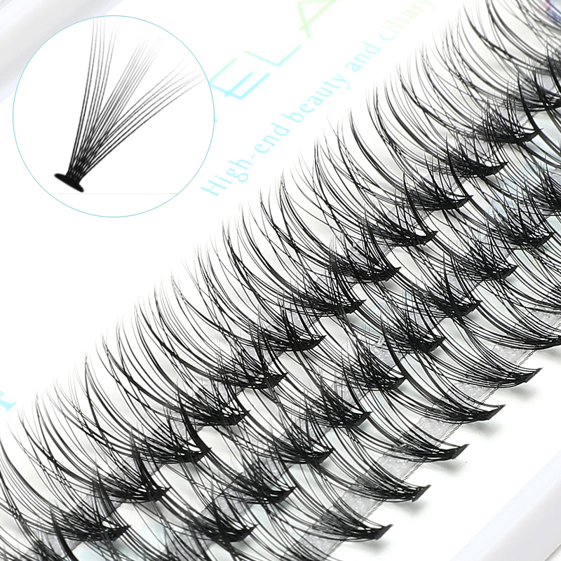 ICYCHEER Pro 8-12mm 0.07/0.10 C Curl Makeup Individual Lashes Thick Natural Individual Cluster Eyelashes Extension