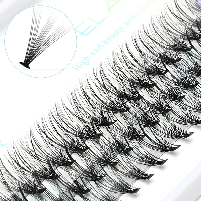 ICYCHEER Pro 8 12mm 0.07/0.10 C Curl Makeup Individual Lashes Thick Natural Individual Cluster Eyelashes Extension