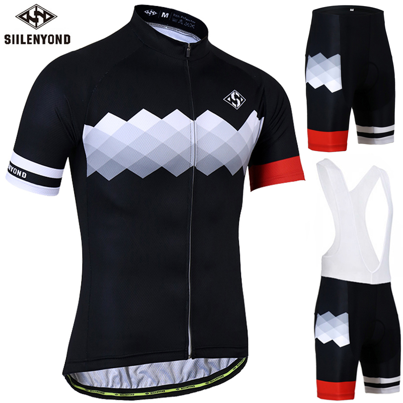 цена на Siilenyond Anti-UV Cycling Jersey Set Summer MTB Bicycle Clothing Racing Bike Clothes Cycling set Ropa Maillot Ciclismo