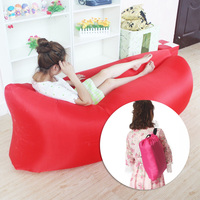 Inflatable Air Sofa Outdoor Garden Bask Beach Travel Foldable Ripstop Bed Sleeping Lying Party Swimming Pool Portable Lazy Cozy