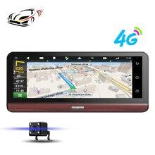 "Maustor 7.84 ""4G Coche DVR Dash Cam Cámara de Navegación GPS Android Wifi 1080 P Bluetooth Grabadora de Vídeo con dos cámaras de registro"