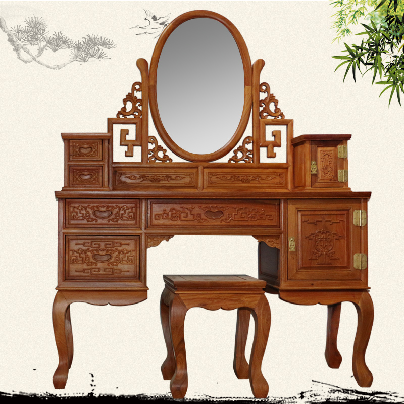 African rosewood mahogany furniture   Myanmar flower   wood bedroom dresser  dressing table Chinese furniture in Figurines   Miniatures from Home    Garden on. African rosewood mahogany furniture   Myanmar flower   wood