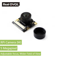 RealQvol Raspberry Pi Camera Module OV5647 Fisheye Lens Wider Field Of View Supports All Revisions Of