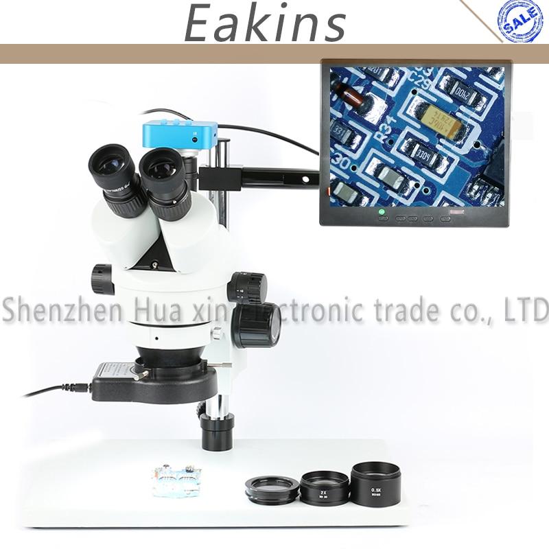 все цены на 3.5X - 90X Zoom Simul-Focal Trinocular Stereo Microscope 16MP 1080P C-MOUNT Video Camera For Phone PCB Soldering Video System онлайн