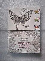 32 Sheets Khu Vườn Bí Mật Màu Thẻ Tintage Bưu Thiếp TỰ LÀM Bức Tranh Vẽ Cuốn Sách