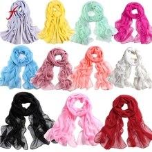 Женский Длинный мягкий тонкая упаковка Женский шифоновый шарф пляжные шарфы