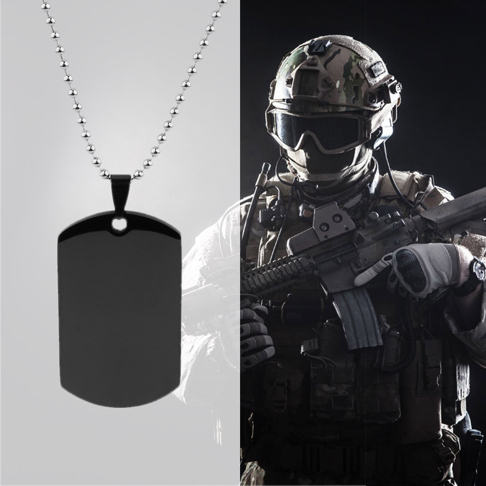 39fa54c4ad GAGAFFEL Dog Tag Necklace Custom Engraved Necklace For Men Stainless Steel  Pendant Necklaces Military Army Cards Jewelry Gifts -in Pendant Necklaces  from ...