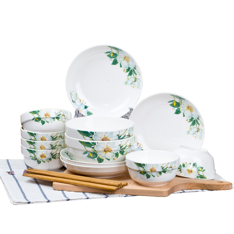 ceramic dishes set household tableware bowl dish soup dinnerware setschina