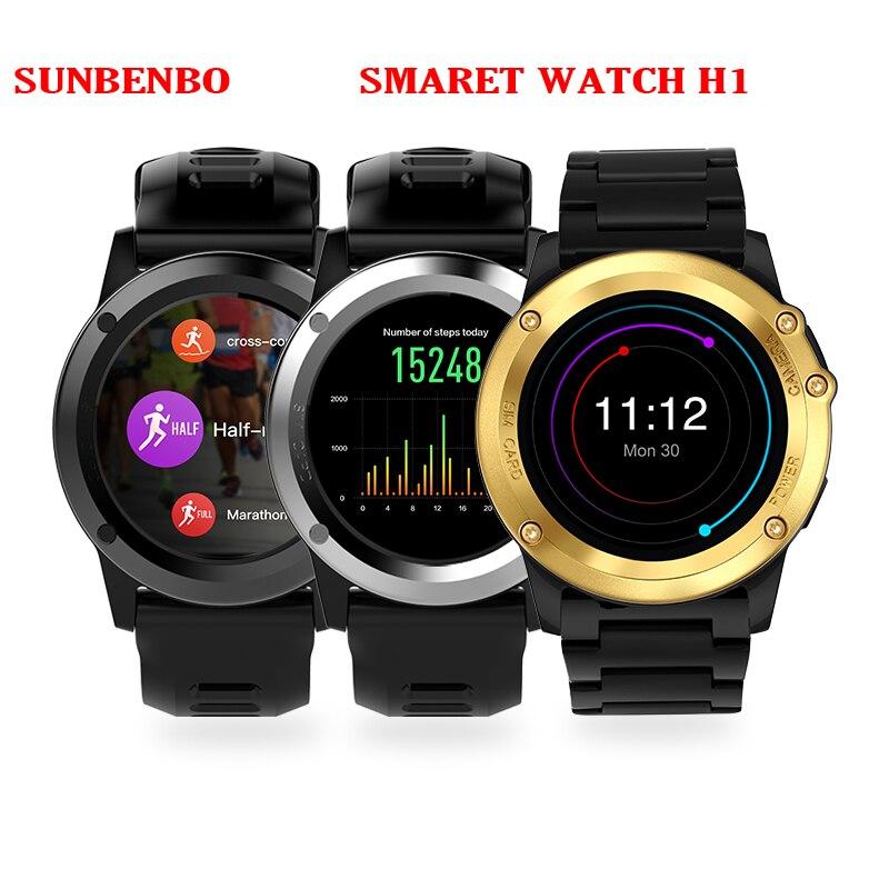 SUNBENBO H1 Heart Rate Bluetooth Smart Watch IP68 Waterproof 3G MTK6572 Smartwatch with Camera Support SIM/GPS/ WIFI Smart Band no 1 f2 ip68 bluetooth smartwatch green