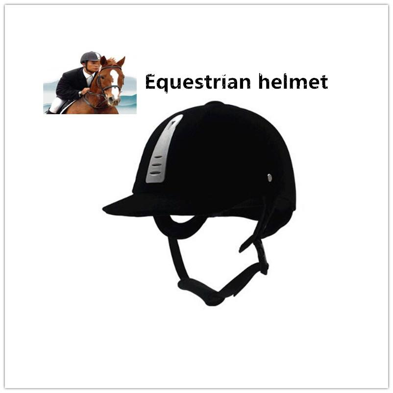 Mounchanin High Strength Equestrian Equipment Helmet Black Riding Breathable Equestrian Protective Gear