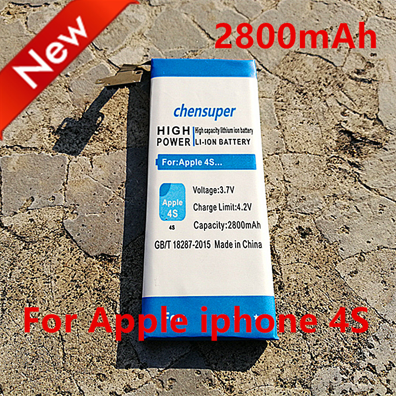 chensuper 2800mAh Mobile phones Batteries For Apple iphone 4S battery iphone4S 4GS For Apple 4S battery+