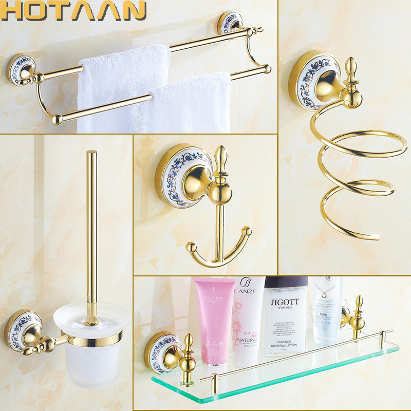 Popular Gold Bathroom Accessories Buy Cheap Gold Bathroom