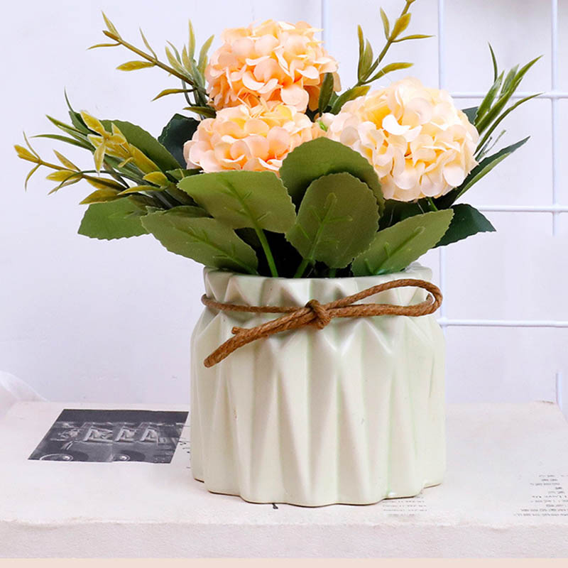 1 Pcs Artificial Mini Potted Plants Home Decoration Assorted Hydrangea Potted Plants Hot Sale in Artificial Dried Flowers from Home Garden