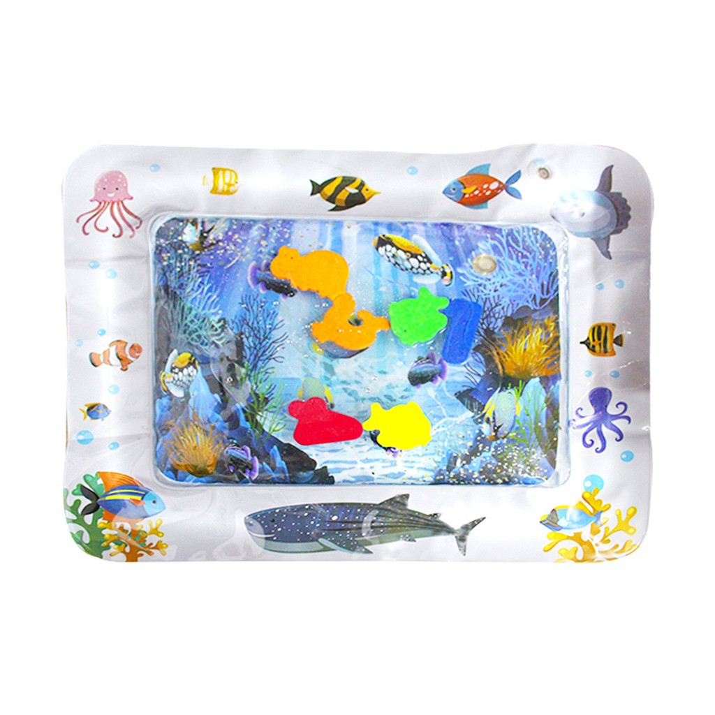 Надувной детский водный коврик для развлечения, игровой центр для детей и младенцев, ковер, игрушки для тренировки глаз