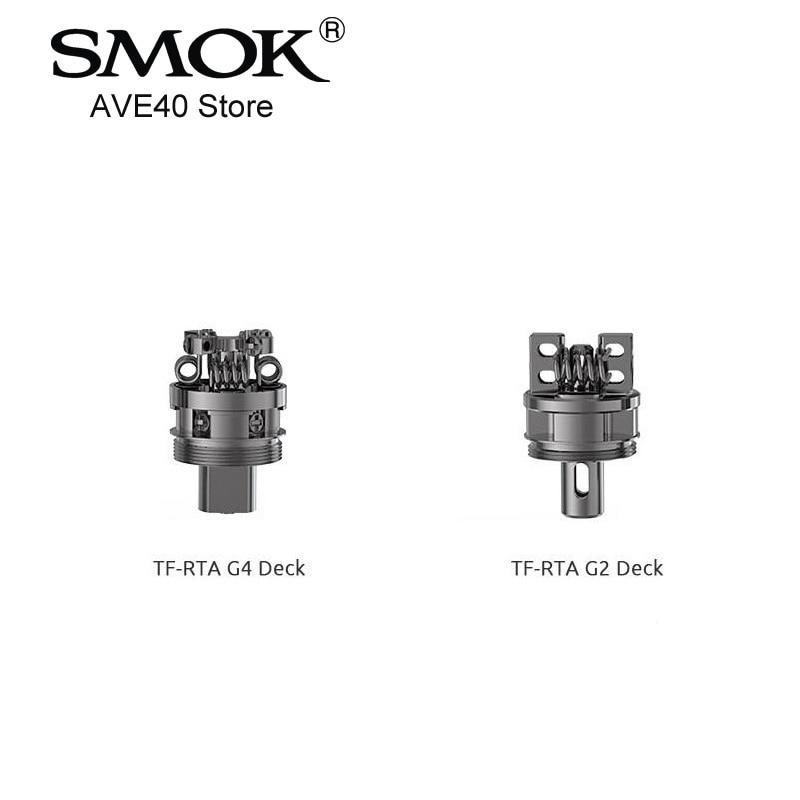 100% Original Smok TF RTA G4 / G2 Deck Work for SMOK TF-RTA Tank Quad-coil G4 Deck VS SMOK ALIEN STARTER KIT VAPORIZER VAPE