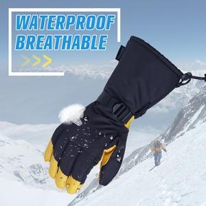 Image 3 - OZERO Invernale di Sci Guanti Sci Snowboard Snowmobile Del Motociclo Mascherine di Guida 3M di Sport Antivento Impermeabile Guanti Caldi Per Gli Uomini donna