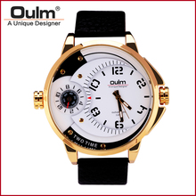 Oulm HP3706 Clock  Luxury Gold Watch Men Military  Men's Watches 2016 Quartz Watch for Man