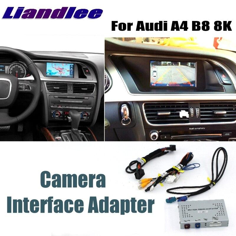 Liandlee Kits de Interface Da Câmera Reversa de Volta Até Câmera de Estacionamento Para Audi MMI A4 B8 8 k Atualização Exibição