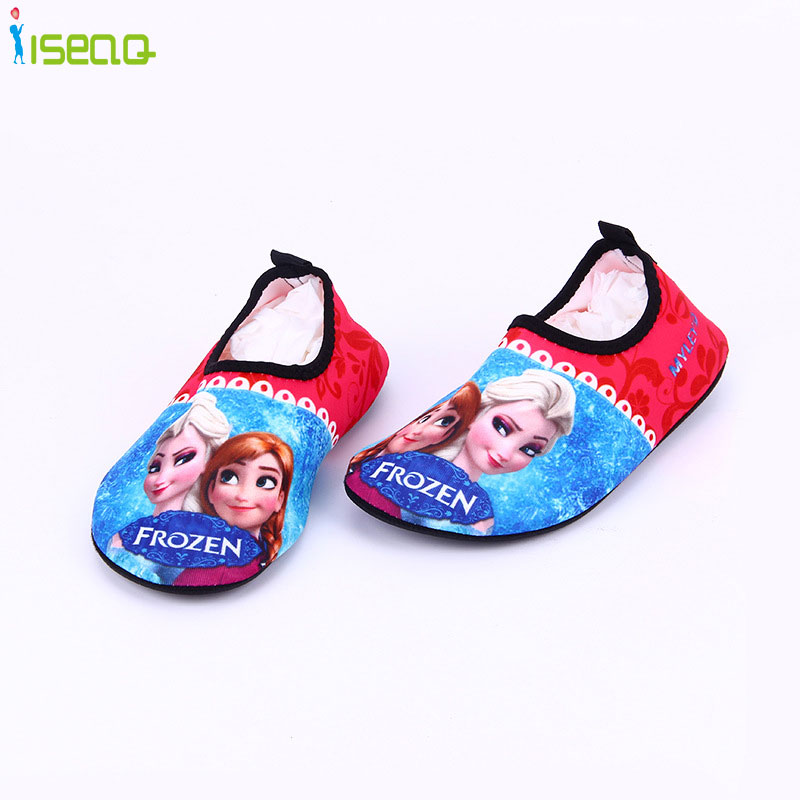 3-8 kid girls and boys swim shoes breathable drifting anti-skid skin care shoes cute cartoon beach shoes home shoes