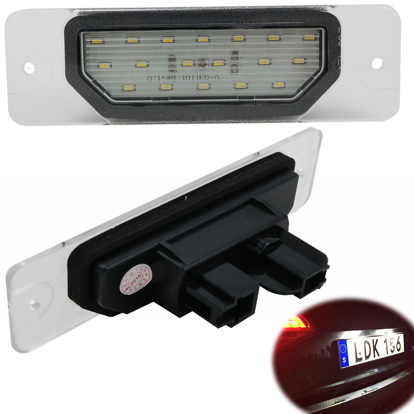 1pair Car LED License Plate Light For infiniti FX35 FX45 Q45 I30 I35 M37 M56 M35h For Nissan Fuga Cefiro Auto Plate Number Lamp
