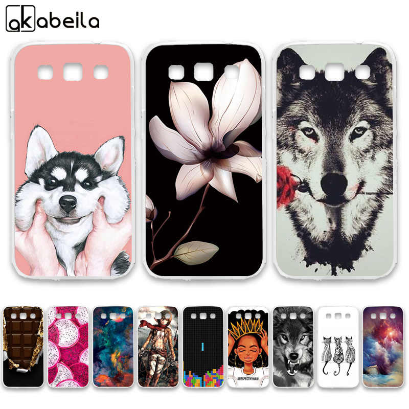 AKABEILA Soft TPU Phone Cases For Samsung Galaxy Win I8552 GT-i8552 GT i8550 i8558 8552 Covers Nutella Flamingo Tetris