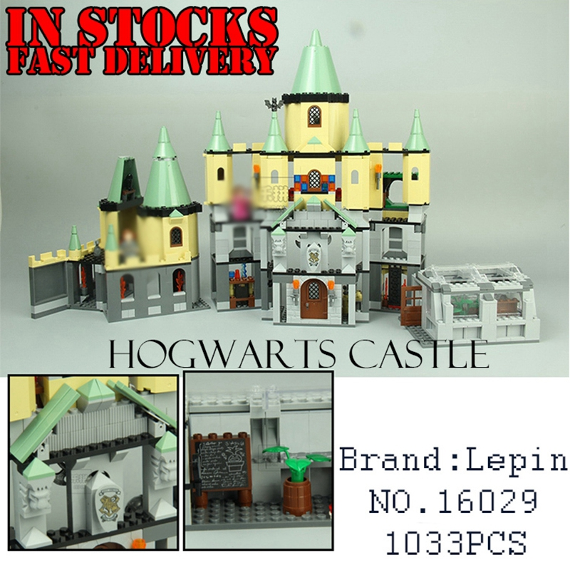 Lepin Harry Potter Hogwort Castle 16029 1033Pcs Model Building Blocks Bricks Toys for Children 5378 compatible with legoingly lepin 02012 city deepwater exploration vessel 60095 building blocks policeman toys children compatible with lego gift kid sets
