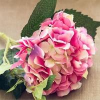 46 CM Donker Roze Kunstmatige Hortensia Blauwe Bloem Bloem Staaf DIY Zijde Accessoire voor Party Thuis Bruiloft Decoratie