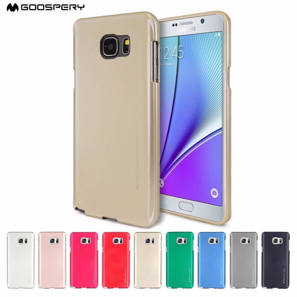 Buy Goospery Pearl Jelly Slim Tpu Bumper Case Cover Samsung Note 8 Fancy Diary Pink Hotpink I Metallic Finish For Galaxy S5 S6 S7 Edge