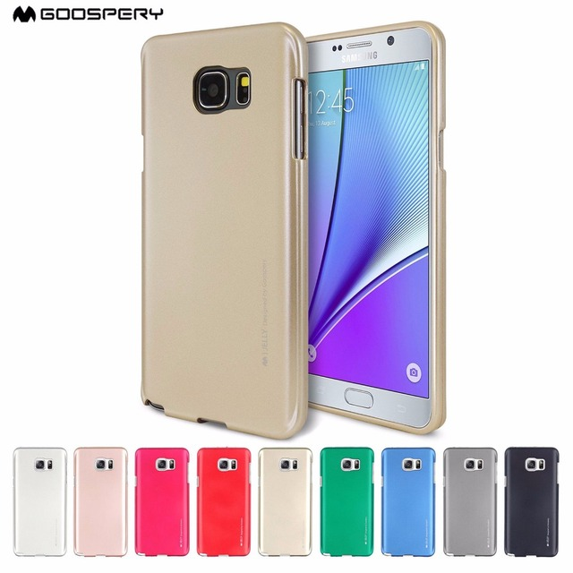 various colors 75fe1 104ad US $3.75 20% OFF|GOOSPERY i Jelly Metallic Finish Slim TPU Case Cover For  Samsung Galaxy S5 S6 S7 Edge S8 Plus Note 5 Note 8-in Fitted Cases from ...