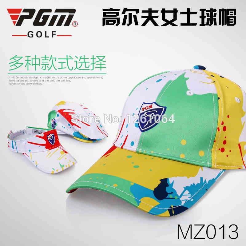 Free Shipping 6 Panel Colored Golf Hat Women 2017 New Hot