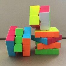 3Pcs Set of Qiyi Stickerless Magic Cube 2x2x2 3x3x3 4x4x4 Speed Competition Puzzle Cubes Twist Toy
