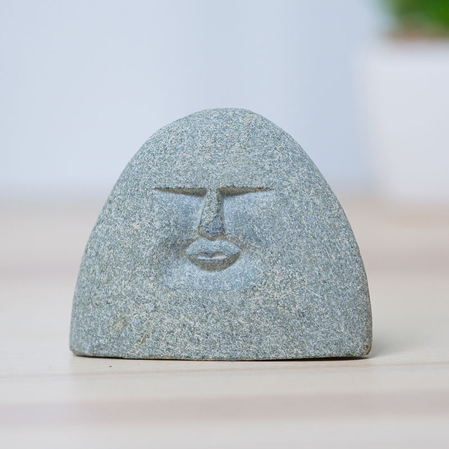 3 Different  Mood face stone Figure statue Crafts Art Home Hotel Decoration Accessories Gift Geometry Ornament hogar moderno 5