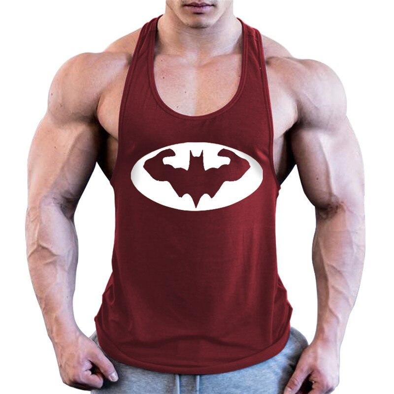 Batman Bodybuilding Stringer Tank Top Mens Fitness Singlets Cotton Sleeveless Shirt Workout Sportwear Undershirt Gym Clothing