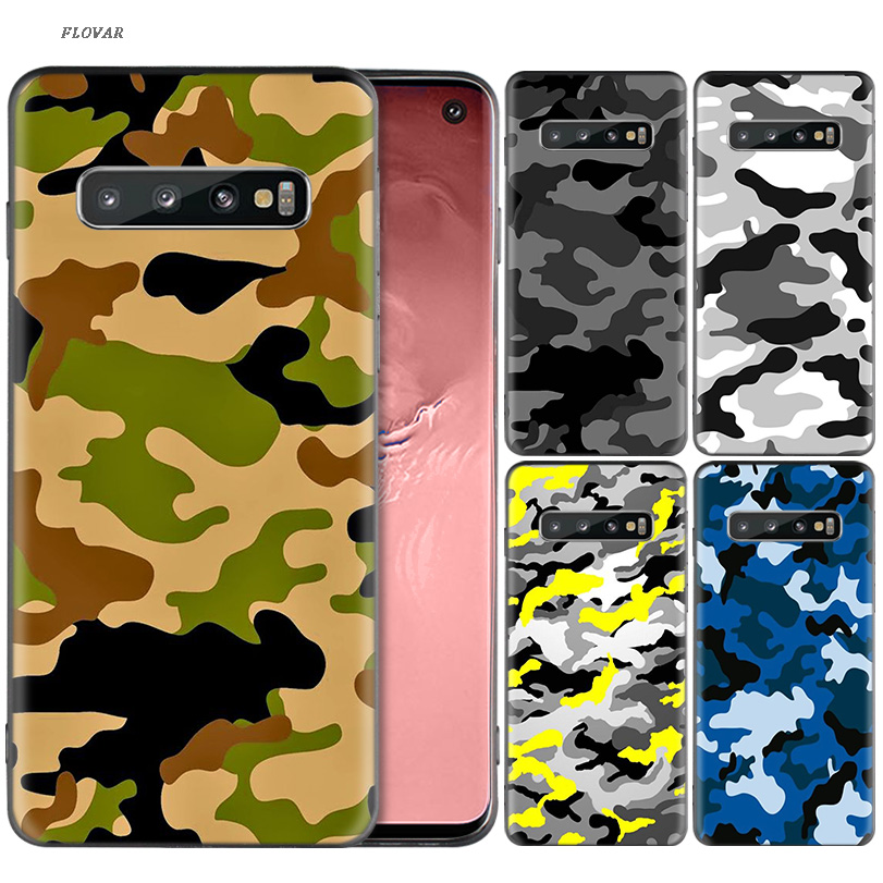 Camouflage Pattern Camo TPU Case For Samsung Galaxy A70 A80 A50 A20E M40 S10 Plus S10E A60 A40 A30 A20 A10 M30 M20 M10 Cover