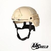 AA Shield Ballistic MICH Tactical Version Teijin Helmet Color TAN Bulletproof Aramid Safety NIJ Level IIIA Military Army