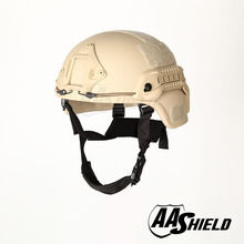 AA Shield Ballistic MICH Tactical Version Kevlar Helmet Color TAN Bulletproof Aramid Safety NIJ Level IIIA  Military Army
