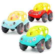1pcs Car baby колокола держать мягкий игрушечный чай собака поймать мяч Baby Ring Teether силикон Chew Charms Baby Teething Gift Toddler Toys