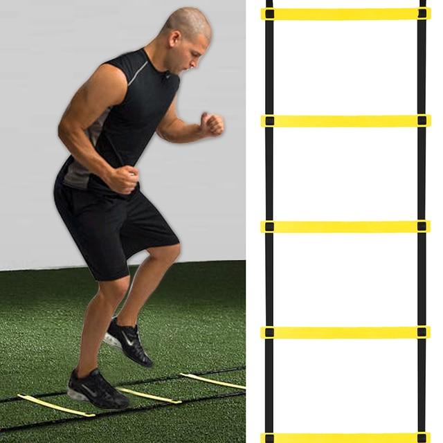 2017 Новый Ancheer 10-rung 4.5 М Ловкость Лестница Регулируемый для Скорость Футбол Спорт Фитнес Ноги Обучение На Открытом Воздухе