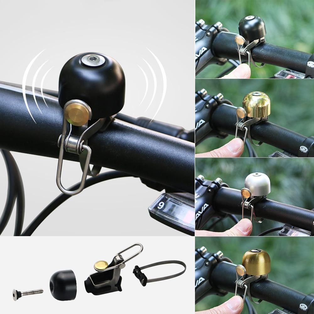1Pcs Black Metal Ring Handlebar Bell Alarm Horn Sound for Bike Bicycle Cycling